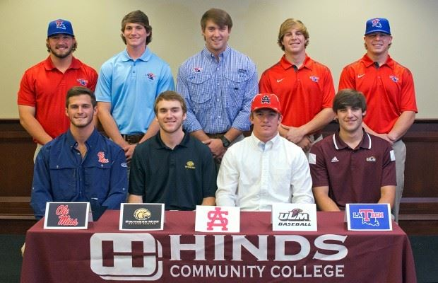 Nine baseball players headed to Division I - Hinds Community College